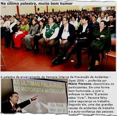 SIPAT - SEMANA INTERNA DE PROTEÇÃO E SEGURANÇA NO TRABALHO